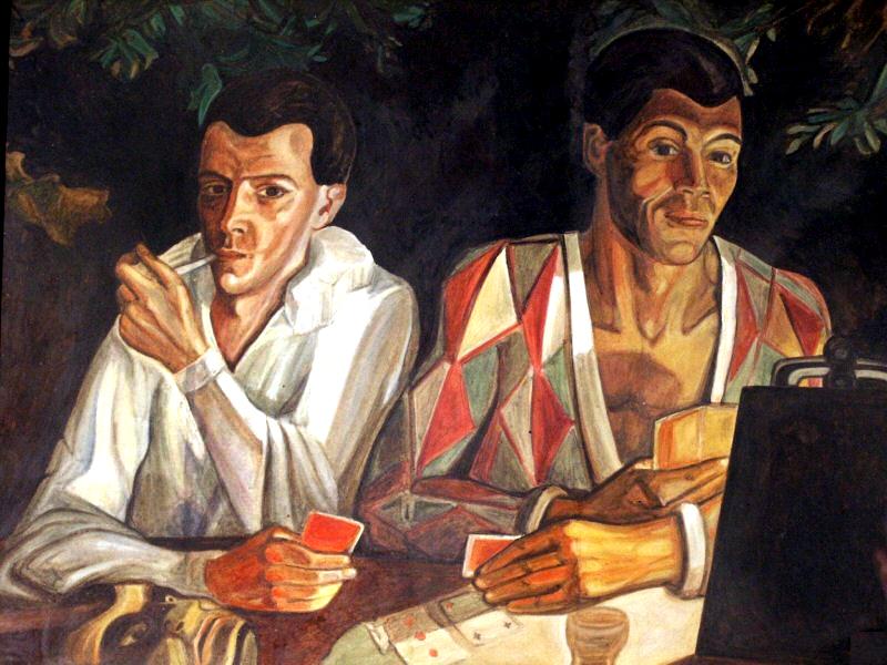 Судейкин Сергей Юрьевич - Арлекин и Пьеро - Двойной автопортрет - 1927.jpg