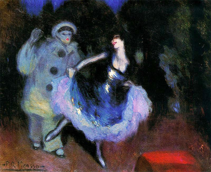 Pablo Picasso - Pierrot et Colombine - 1900.jpg
