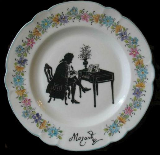 Декроративная тарелка - Моцарт - Франция - Limozh.jpg