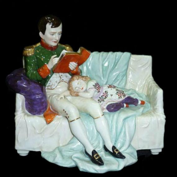 Наполеон со спящим сыном - - Германия - Тюрингия - Scheibe-Alsbach - 1945-1972.jpg
