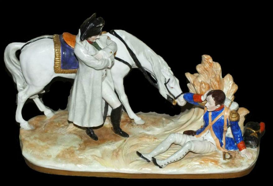 Наполеон и раненый солдат - Германия - Scheibe-Alsbach.jpg