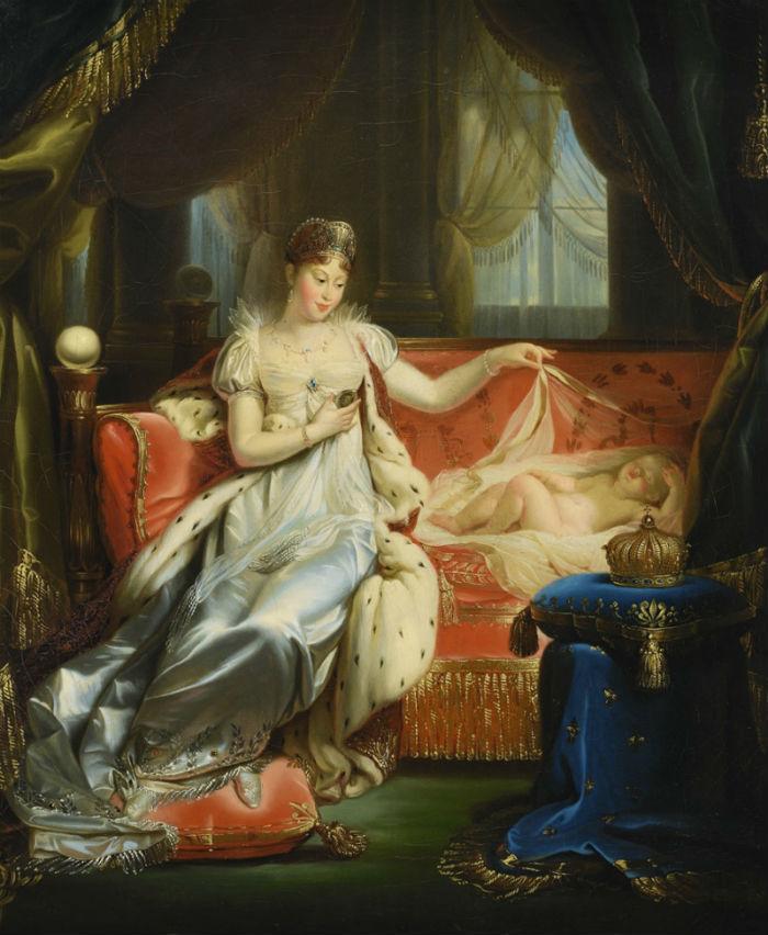 Josep Franque et son atelier (1774-1833) Empress Marie-Louise watching over the Roi de Rome asleep.jpg