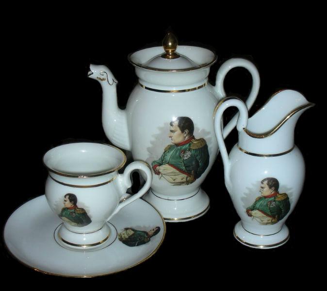 Набор кофейный на 1 персону - эгоист Наполеон - Франция (Limoges).jpg