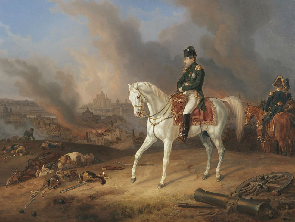 Альбрехт Адам - Наполеон на фоне горящего Смоленска.jpg