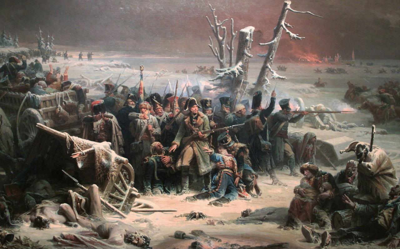 Адольф Ивон (1817-1893) - Французские солдаты маршала Нея загнаны в лес в сражении под Красным.jpg