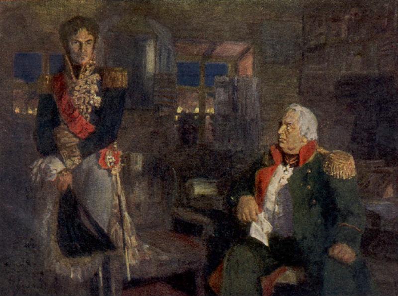Н П  Ульянов (1875-1949) - Лористон в ставке Кутузова - Государственная Третьяковская галерея.jpg