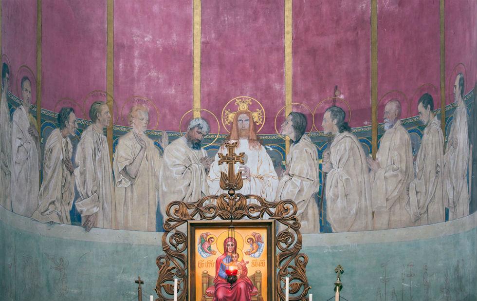 Ян ГенрикРозен - Тайная вечеря - фреска - Армянский собор - Львов.jpg