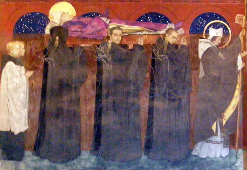 Ян Генрик Розен - Похороны Святого Аделона - фреска - Армянский собор - Львов.jpg