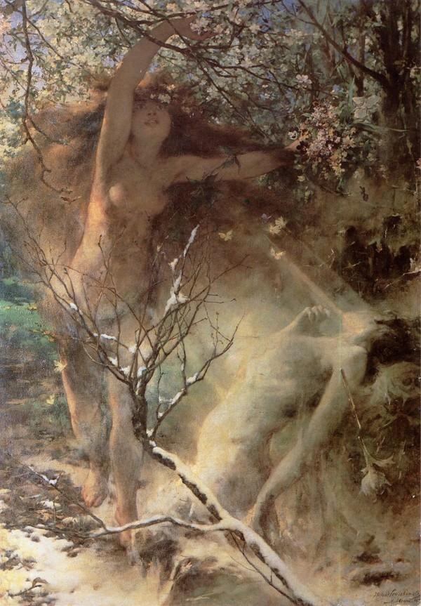 Witold Pruszkowski - Wiosna - 1887 - Lwowska Galeria Sztuki.jpg