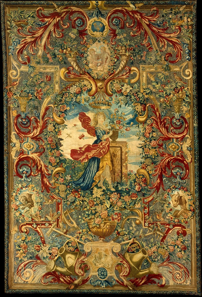 Гобелен из серии Времена года - Весна - Франция Париж - около 1683 - Нью-Йорк - Музей Метрополитен.jpg