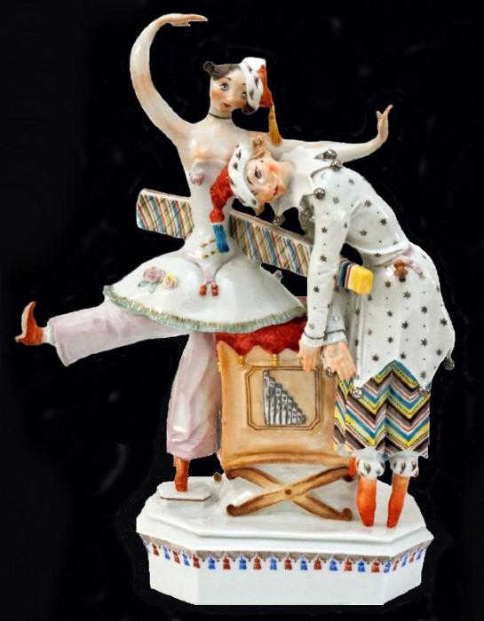 Балет Стравинского Петрушка - Германия - Мейссен - автор Пауль Шойрих (2).jpg