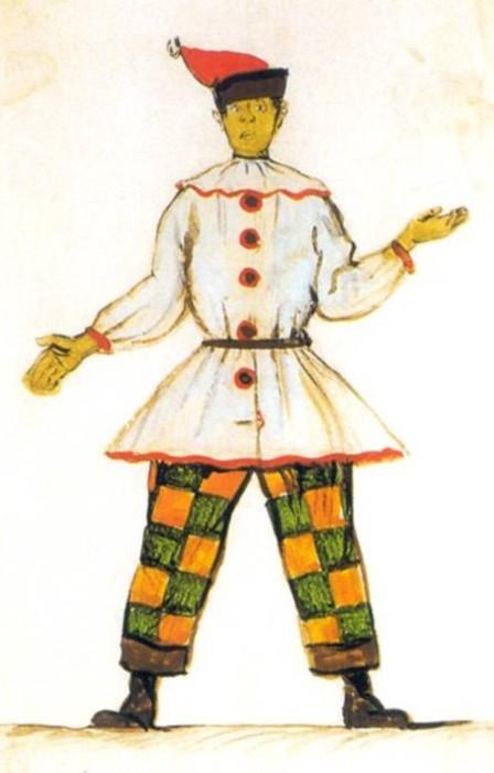 Бенуа - Эскиз костюма для балета Стравинского «Петрушка» - 1911.jpg