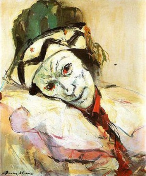 Франц Клайн (Franz Kline) - Вацлав Нижинский в роли Петрушки - 1948.jpg