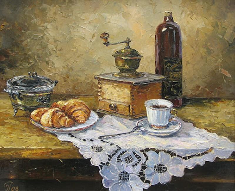 Ропьяник Игорь Остапович - Натюрморт с чашкой кофе.jpg