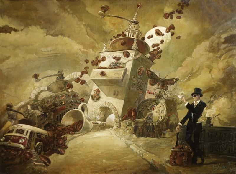 Лаптев Юрий (1962 - Севастополь) - Кофейный пикник.jpg