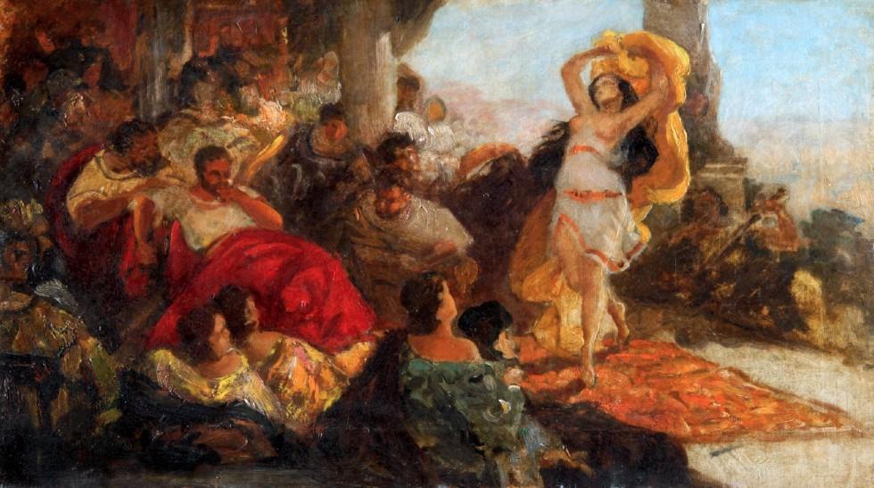 Мауриций Готтлиб - Танец Саломеи - 1879 - Национальный музей в Кельце.jpg