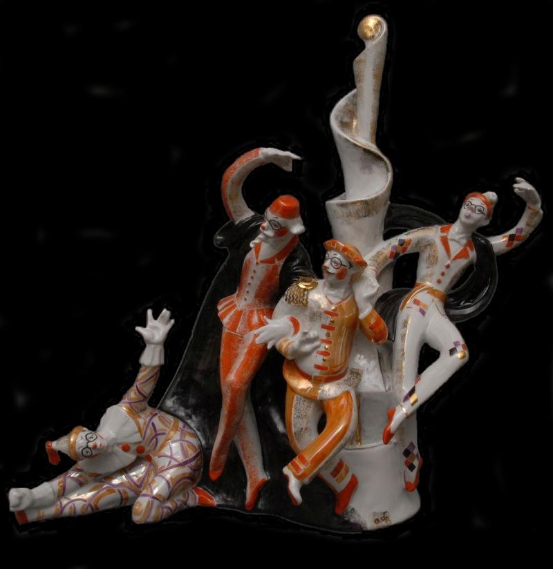 Сюита Вахтанговцы Принцесса Турандот - Вахтанговские маски - автор Аста Бржезицкая - 1971.jpg