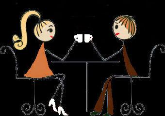 30940454-Влюбленная-пара-сидит-за-столом-в-кафе-и-выпить-горячеÐ