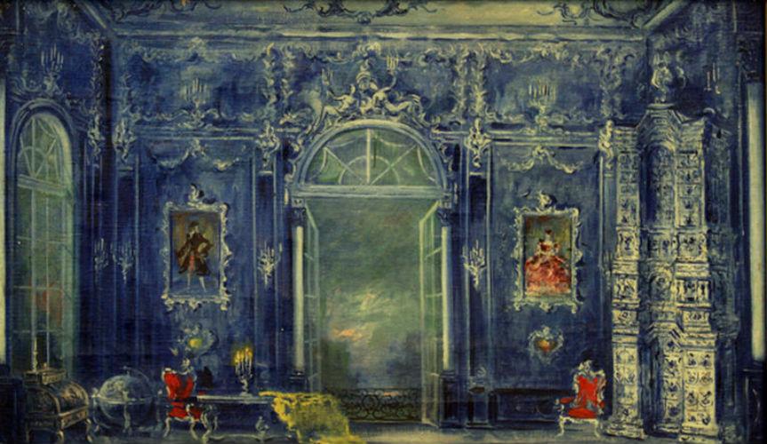 Вильямс-Золушка-эскиз декорации