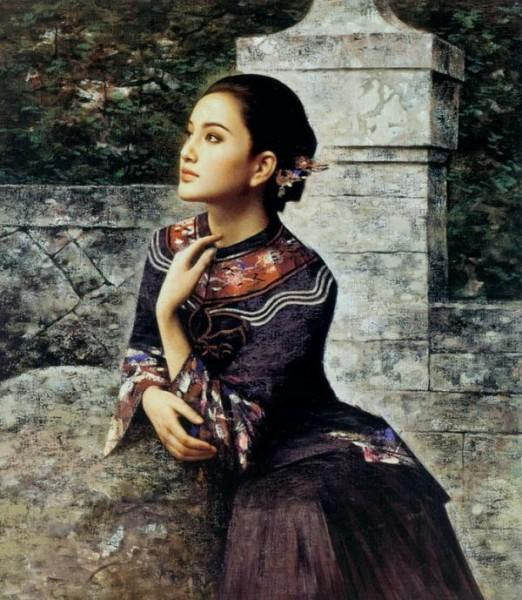 Восточная женщина, как ты прекрасна…/ Художник Xie Chu Yu