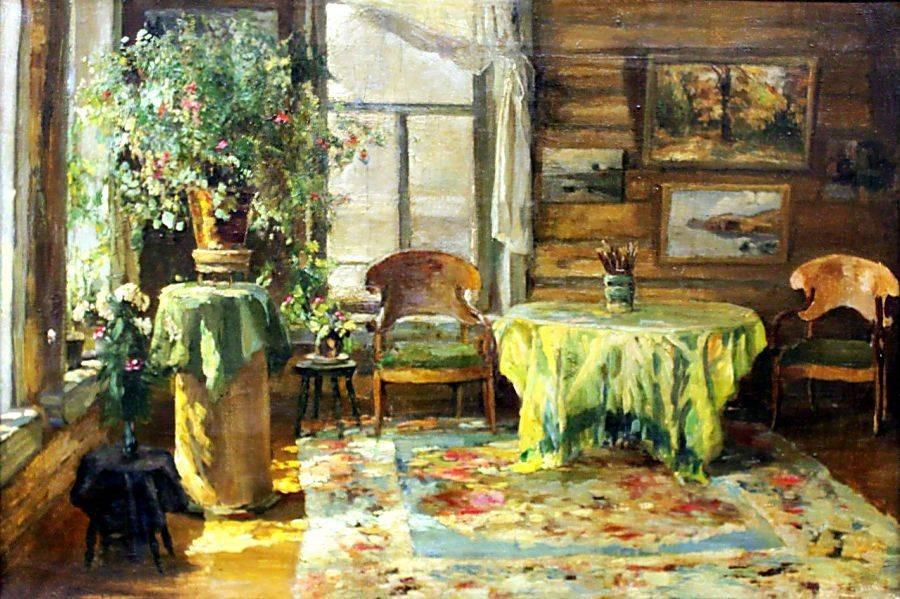 Виноградов Сергей  (1869-1938) На даче 1932