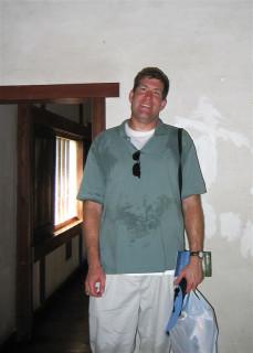 Chad inside Himeji castle