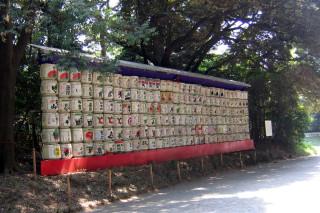 Meiji Jingu, sake offerings