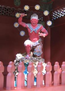 Thunder god at Taiyûin-byô