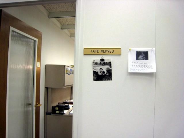 outside office door
