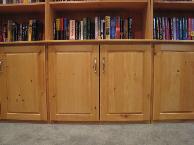 admire the elegant cabinet doors