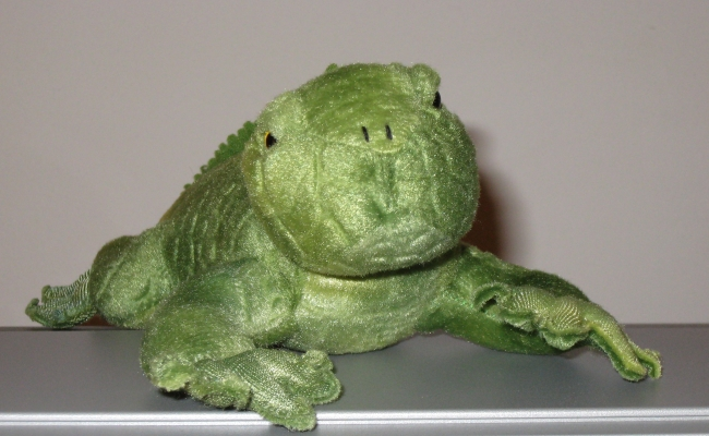 fabulously grumpy plush iguana