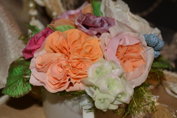 Букет из английские роз своими руками пошагово