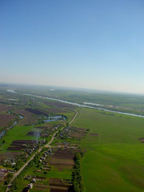 Место слияния рек Оки и Протвы. Граница Московской, Калужской и Тульской областей
