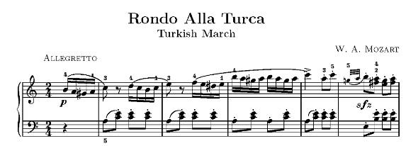 Когда начала играть Гавот думала, что Прокофьев повзаимствовл начало у Моцарта. Класс шестой наверное. Здесь кусочек не для ф-но, но первые четыре ноты видны.