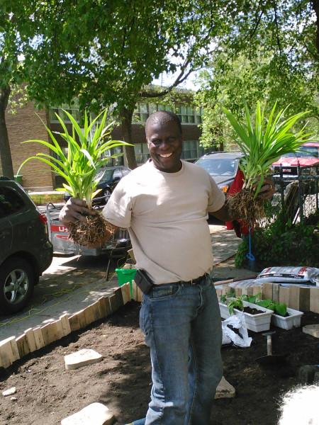 Abdou avec les plantes