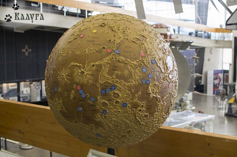 карта исследований Луны