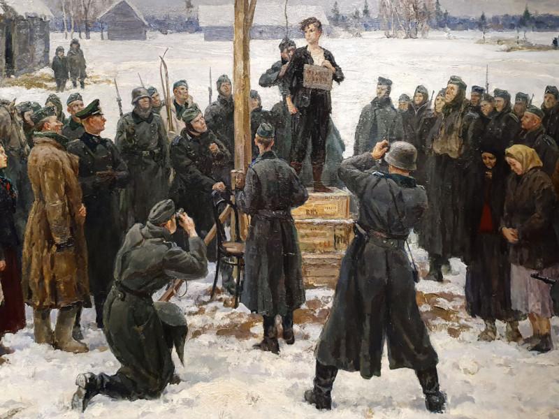 Кукрыниксы. Таня (Зоя Космодемьянская) (фрагмент). 1942