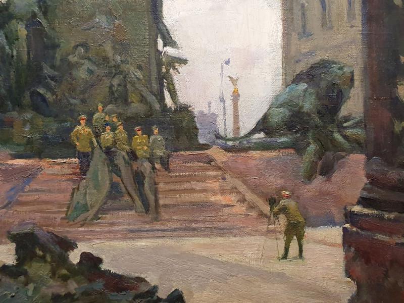 Николай Соколов. Сталинградцы в Берлине (фрагмент). 1945. Пермская художественная галерея