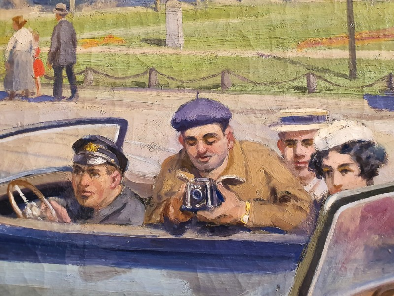 Иван Владимиров. Интуристы в Ленинграде (фрагмент). 1937