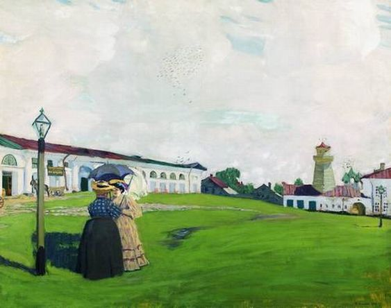 """Б. Кустодиев. """"Провинция"""" (Кострома). 1906"""