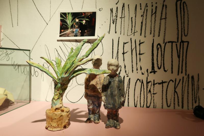 Надежда Лихогруд на выставке «РайON.0» в Музее Москвы