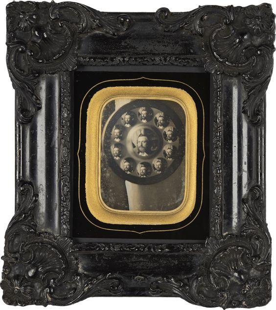 Charles Nègre, Autoportrait in a witch mirror, ca. 1845. collection by Jacques Herzog und Pierre de Meuron Kabinett