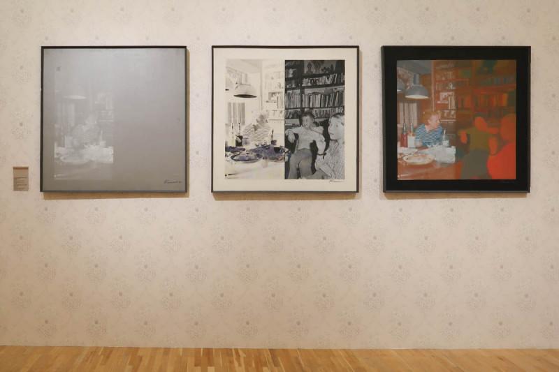 Эдуард Гороховский. Половина. 1983. Триптих.  Оргалит, масло, шелкография
