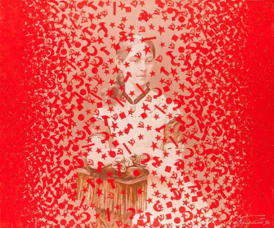 Эдуард Гороховский. Красные пчелы. 1990