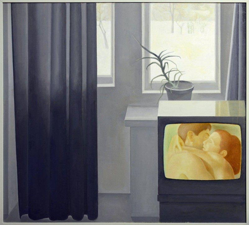 Евгений Амаспюр. Цветной телевизор. 1976