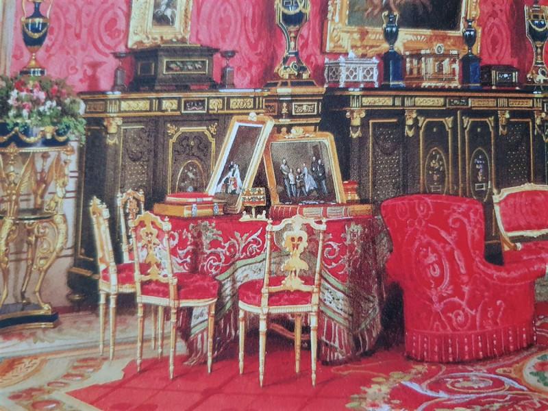 фрагмент акварели Л.О. Премации. Кабинет императрицы Марии Александровны. 1869г.