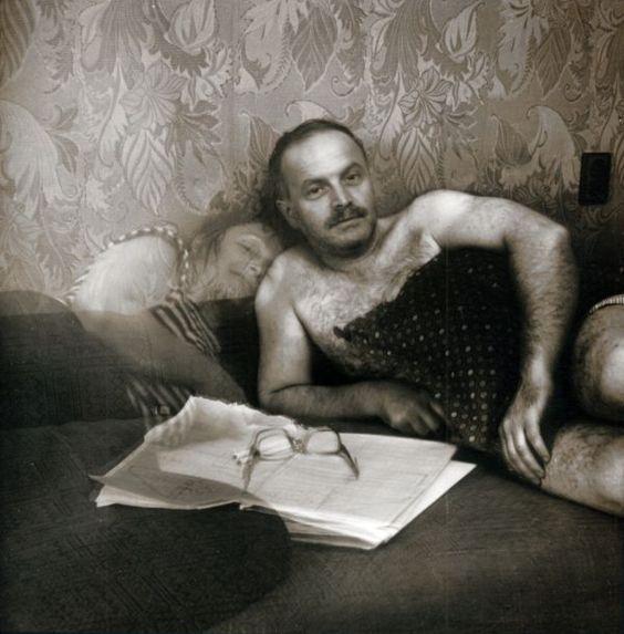 """Рита Островская. Мой муж и я. Киев. 1995. из серии """"Присутствие"""""""