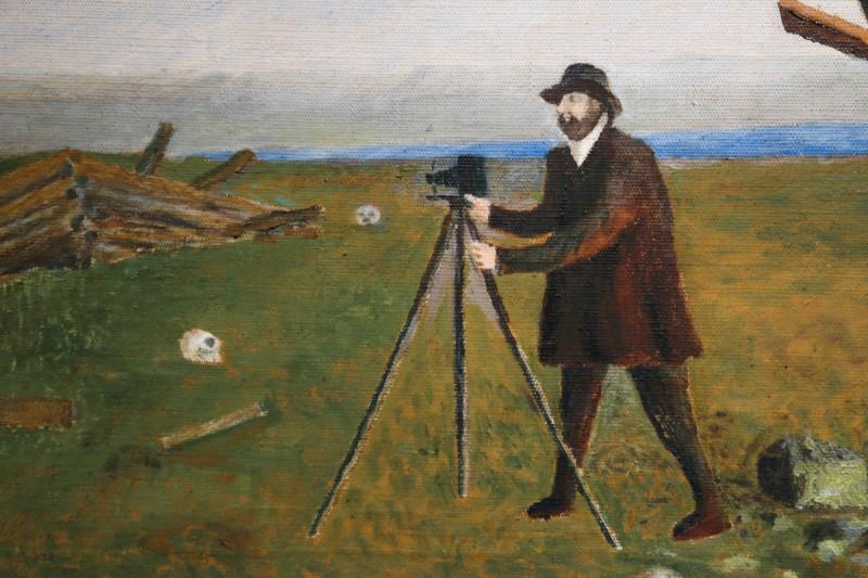 Илья (Тыко) Вылко. Русанов производит съемку местности (фрагмент). 1958