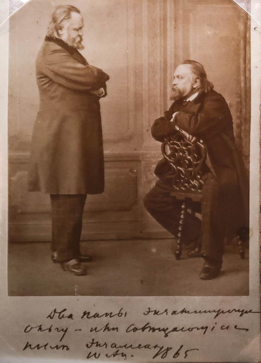 Два папы экзаменующие Ольгу — или совещающиеся после экзамена. 10 апреля 1865