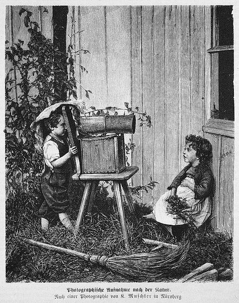 Photographische Aufnahme nach der Natur. Nach einer Photographie von K. Muschler in Nürnberg. Image from page 527 of journal Die Gartenlaube, 1874